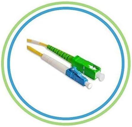1 m, OM3, LC, St, Male Connector//Male Connector, Turquoise Helos 1m OM3 LC//St c/âble de Fibre Optique Turquoise C/âbles de Fibre Optique