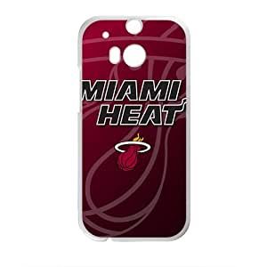Happy Miami Heat NBA Fahionable And Popular Back Case Cover For HTC One M8