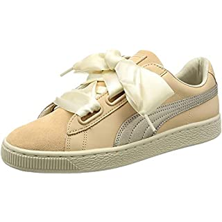 Puma Basket Heart Up Womens Sneakers Natural