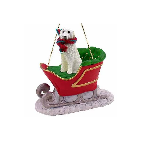 Conversation Concepts Great Pyrenees Sleigh Ride Christmas Ornament - Delightful! 1