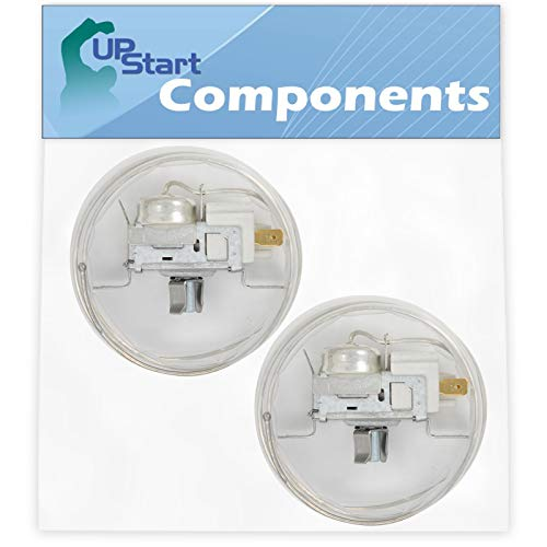 2-Pack 2198202 Cold Control Thermostat Replacement for Whirlpool Refrigerators - Compatible with Part Number AP6006166, 1110552, 1115242, 1115243, 2161283, 2161284, 2169112, 2169113, 2198201