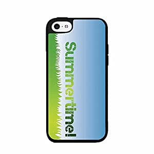 Green Blue Summer Time 2-Piece Dual Layer Phone Case Back Cover iPhone 4 4s