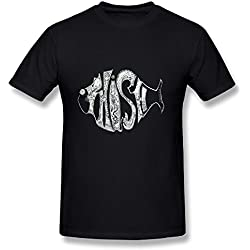 Alternative Rock Phish Tour 2016 Fan Logo Design Mens T-Shirts Black