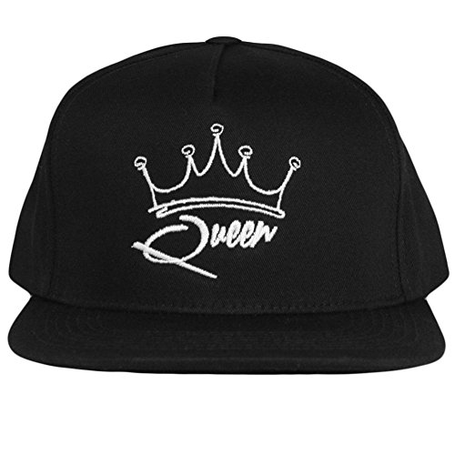 King and Queen Matching Couple Hats (Adjustable, Queen) by Fantastic Tees