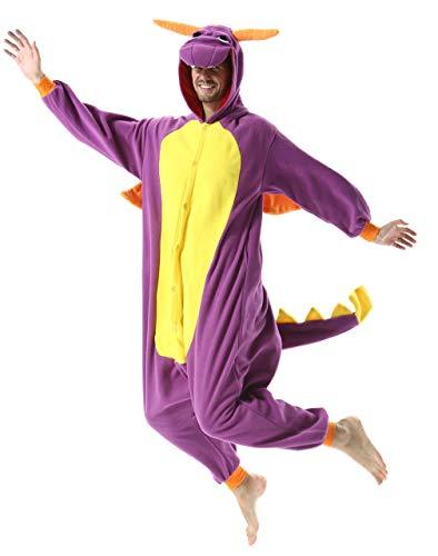 Pijama Animales Morado Cosplay Disfraz Ropa De Dormir