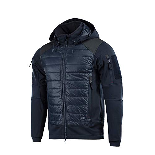 M-Tac Ultra-Light Quilted Tactical Jacket – Casual Insulated Men Puffer (Dark Blue, M) (Puffy Layer Jacket)