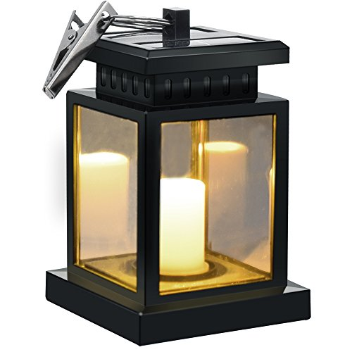 Solar Umbrella Lights - Sunklly Waterproof Led Handing Candle Lantern for Garden,Patio,Lawn ( Yellow Light, Pack of 1 )