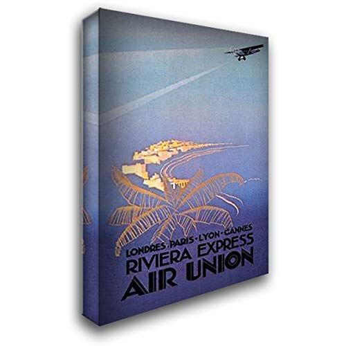 Riviera Express Air Union - Riviera Express Air Union 28x40 Gallery Wrapped Stretched Canvas Art by Maurus, E.