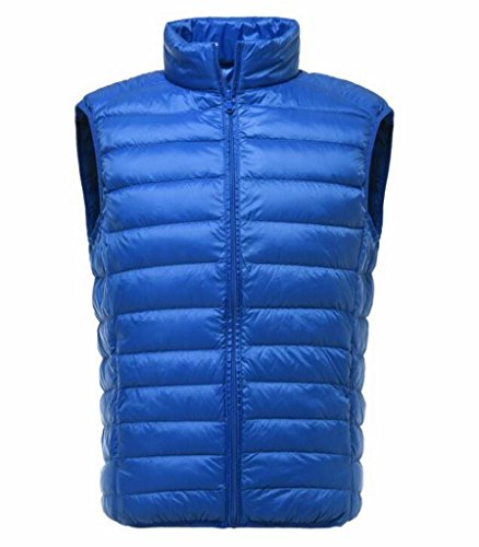 Mk988 Maniche Inverno Packable Cielo Giubbotto Dimensioni Giù Puffer Più Mens Blu Leggero XqXwrU