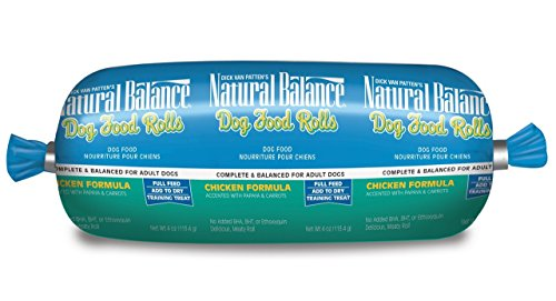Natural Balance Dog Food Roll, Chicken Formula, 4-Ounce - (36 Pack) by Dick Van Patten's Natural Balance®