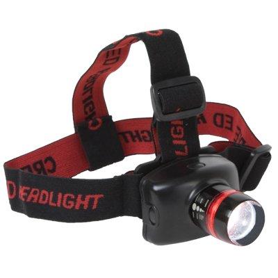CE Compass LED Bright Head Lamp Flash Light Zoom Focus Strap
