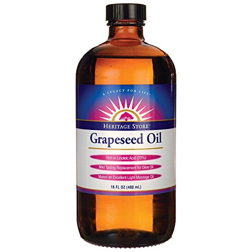 Heritage Store Grapeseed Oil, 16 Ounce -
