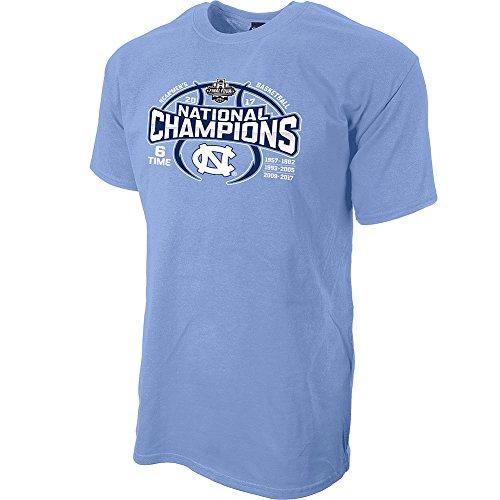 North Carolina Tar Heels 2017 National Basketball Champs Tshirt Blue - L