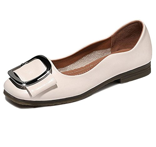 Verano Zapatos Las De Ocasionales Señoras La Nuevos La JQNSX Plaza Primavera Los Beige De Coreanos Boca Zapatos De Baja Zapatos Y La Planos De Para Principal Manera 8EqxZd