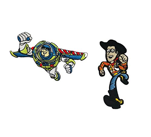 - Embroidered Iron/sew on Patch Cloth Applique Collectible Disney Patches (Buzz&Woody)