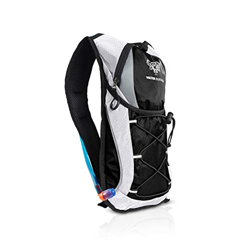 Water Buffalo Hydration Backpack & 2 Liter Water Bladder - Lightweight & Keeps Water Cool for Up to 5 Hours