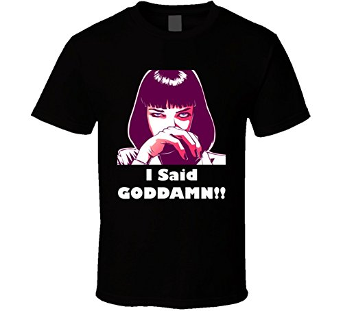 The Village T Shirt Shop Pulp Fiction MIA Wallace Retro Movie T Shirt 2XL -