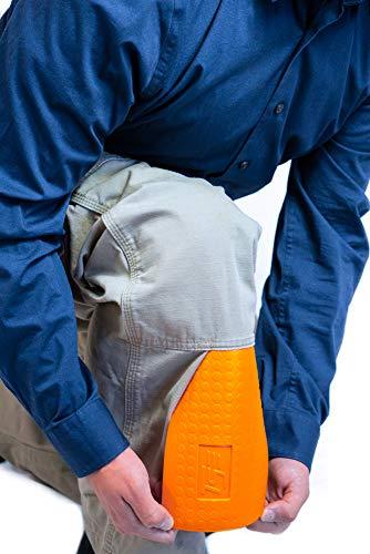 Pants Knee Pads - TSE Safety TSE-PPKS TSE-PRO Pocket Knee Savers, One Size, Hi-Viz Orange