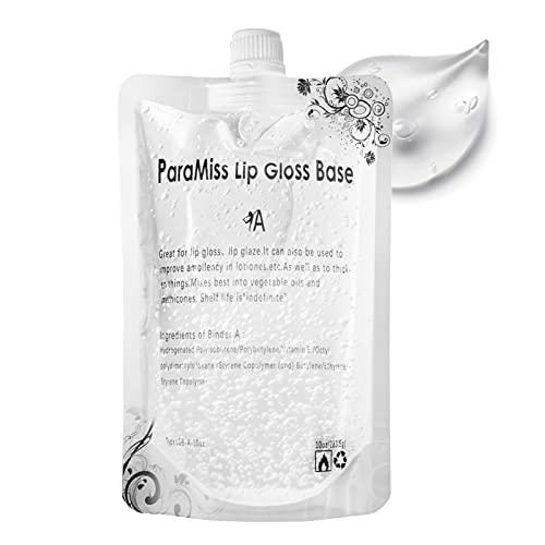 PARAMISS Lip Gloss Base 10 Ounce (350 ML) Clear Lip Gloss Non-Stick Moisturizing Versagel lip gloss base DIY Handmade…