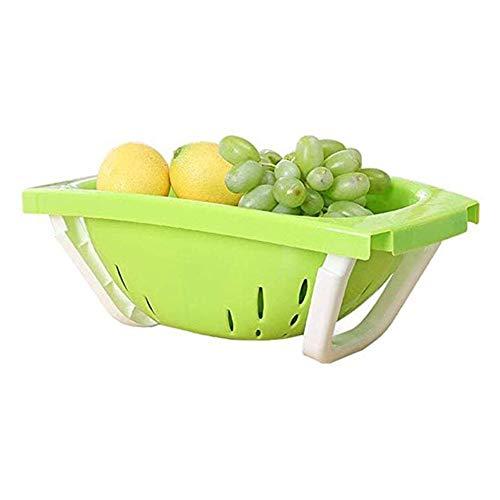- YYi-kuG Storage Basket Folding Drain Basket With Washing Dishes Drain Basket Kitchen Washing Fruit And Vegetables Dishes Drain Basket