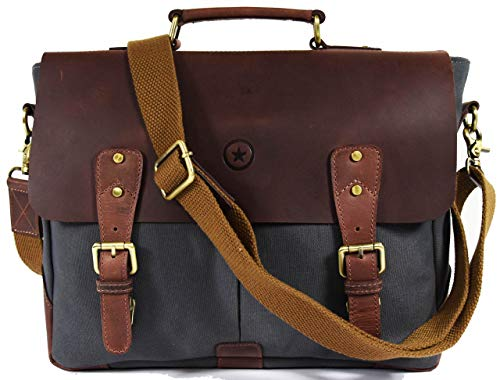 (Messenger Bag for Men and Women | Shoulder Bag with Multiple Compartments Zippered Pockets School Bag)