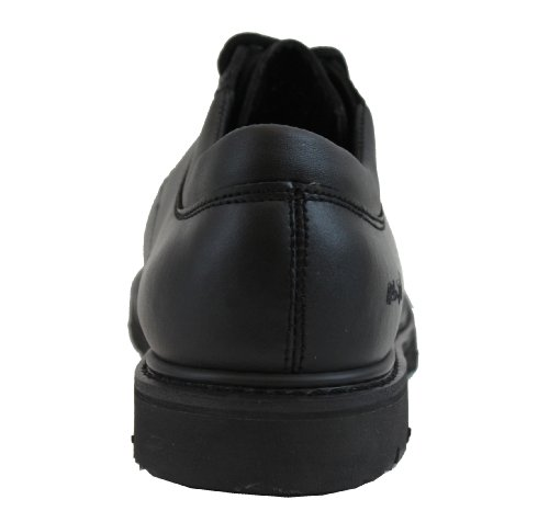 Adtec Mens Nero 4 In Composito Toe Oxford Scarpe In Pelle Uniforme Nero
