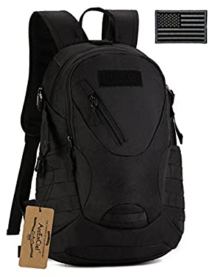 ArcEnCiel Men Tactical Bags Men Travel Bags Ultralight Hunting Range Soldier Ultimate Stealth Heavy Duty Carrier Backpack Waterproof with Patch
