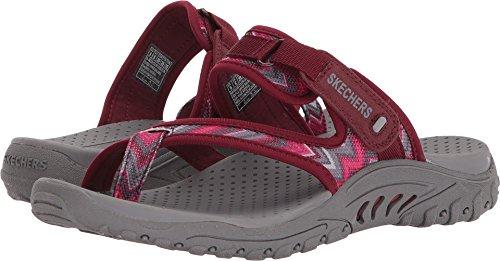 Skechers Print Sandals - Skechers Womens Reggae - Zig Swag Burgundy/Pink 8 B - Medium