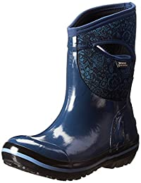 Bogs Women's Plimsoll Quilted Floral Mid Waterproof Boot