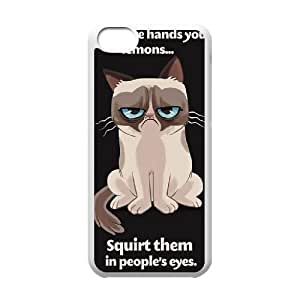 YNACASE(TM) Grumpy Cat DIY Cell Phone Case for iPhone 5C,Personalized Cover Case with Grumpy Cat