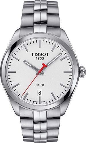 Tissot Men's Quartz Watch with Stainless-Steel Strap, Silver, 18 (Model: T1014101103101)