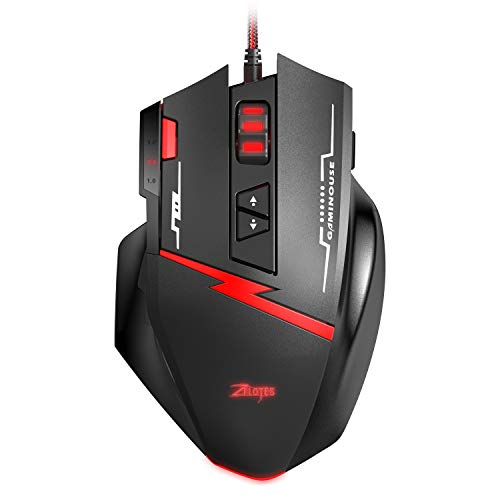 ORIA Gaming Mouse, Gaming Mouse Wired, High Precision USB Wired Gaming Mice, PC Computer Gaming Mice with Programmable Switch, 4 DPI Adjustable, Comfortable Grip Ergonomic, Fire Key