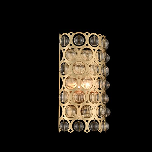 Firenze Gold Wall - Kalco 032220-038-FR001 Vita - One Light Wall Sconce, Brushed Champagne Gold Finish with Firenze Clear Crystal