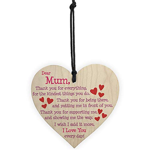 YESMAEA Heart Wooden Decoration Wooden Plaque Hanging Sign Rustic Signs for Home Decor ()