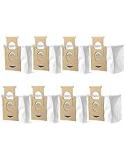 8 Pack Dust Bags Accessories Replacement Parts Compatible with Yeedi Vac Station Yeedi Vac Max Vacuum Cleaner Robot