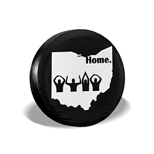 (Laxoinh Ohio Home State Spare Tire Cover Waterproof Dust-Proof Fit for Many Vehicle (1PCS) 16 Inch)