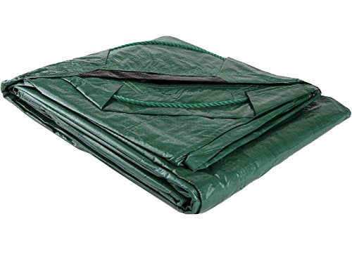 Shefko 0-99393-10909-4 Yard Tarp 8.2 X 8.2 - Versatile Drawstring Tarp for Yard Clean Ups - Convenient and Handy - Formed Into an Instant Dragging Bag - Ideal as BBQ Grill and Outdoors Furniture Cover by Shefko