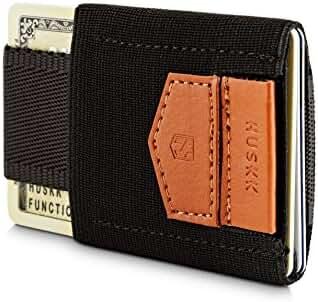 HUSKK Slim Leather Minimalist Wallet - Credit Card Holder - Up to 10 Cards