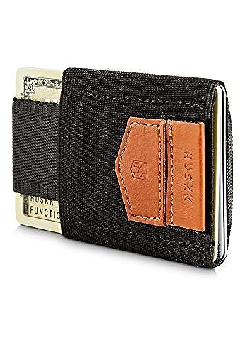 08. HUSKK Minimalist Slim Wallet - 10 Card Holders - Cash, Coins or Keys