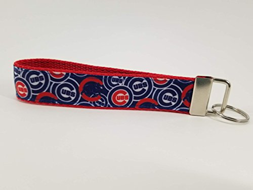 Chicago Cubs Logo Collage Keychain