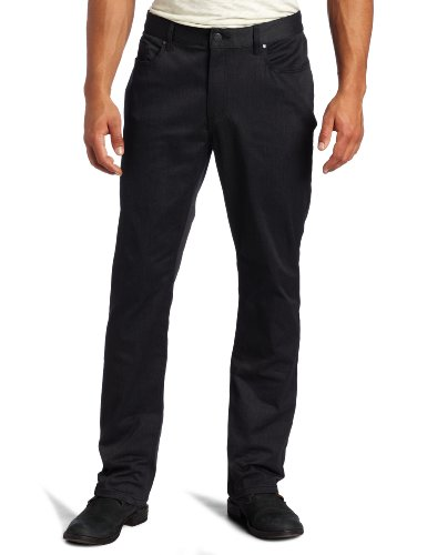 Kenneth Cole New York Men's Five Pocket Pant, Charcoal Gray Combo, 34x32