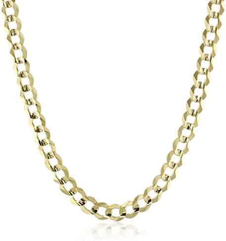 Men's 14k Gold 7mm Cuban Chain Necklace