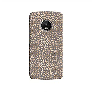 Cover It Up - Brown Maroon Pebbles Mosaic Moto G5 Hard Case
