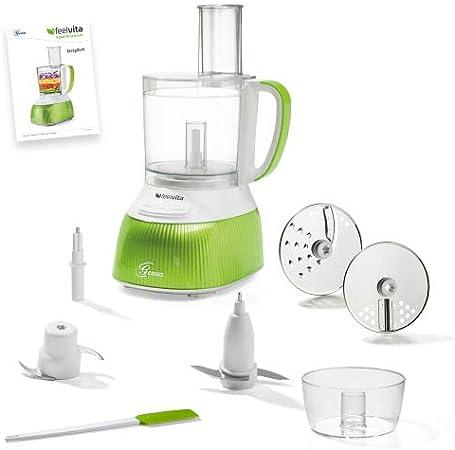 Genius A80890 eléctrica para la Cocina. Picadora de cebollas, plástico y Acero Inoxidable, verde/blanco: Amazon.es: Hogar