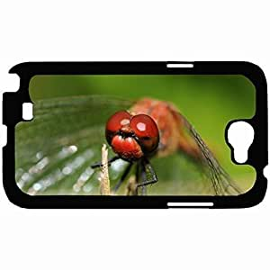 New Style Customized Back Cover Case For Samsung Galaxy Note 2 Hardshell Case, Back Cover Design Dragonfly Personalized Unique Case For Samsung Note 2