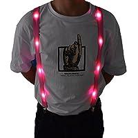 LED Glow Light Up Suspenders Trouser Braces Y Shape Suspenders