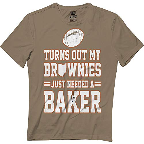 e715eb509 Amazon.com: Brownies Just Needed A Baker Funny Cleveland Football Lovers  Tshirt: Clothing
