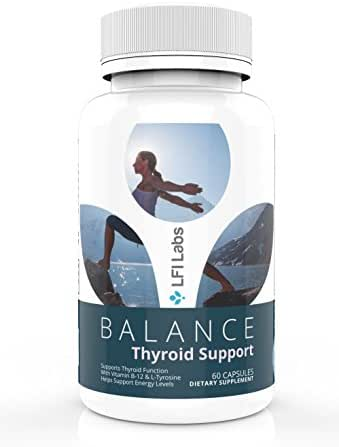 Weight Loss Thyroid Support Supplement – with Vitamin B-12, Ashwaganda, Iodine, Zinc, Selenium – Immune System Support, Balance Hormones, Boosted Energy, Slow Hair Loss – LFI Labs 60 Capsules