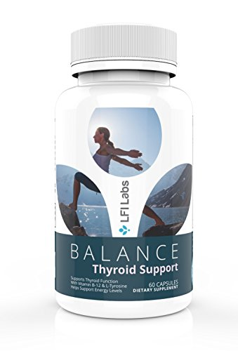 Weight Loss Thyroid Support Supplement - with Vitamin B-12, Ashwaganda, Iodine, Zinc, Selenium - Immune System Support, Balance Hormones, Boosted Energy, Slow Hair Loss - LFI Labs 60 Capsules