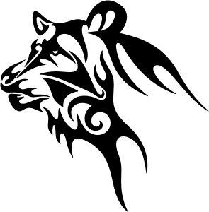 Tatuajes tribales del lobo, vinilo, adhesivos, adhesivos, Deco, H ...